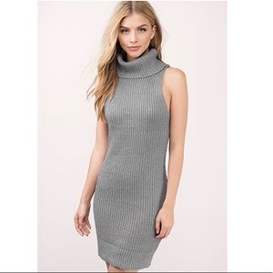 •GREY SWEATER DRESS•